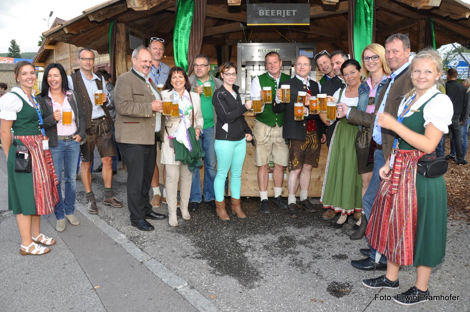 Der moderne Beerjet in Freistadt auf der Mühlviertler Wiesn 2014