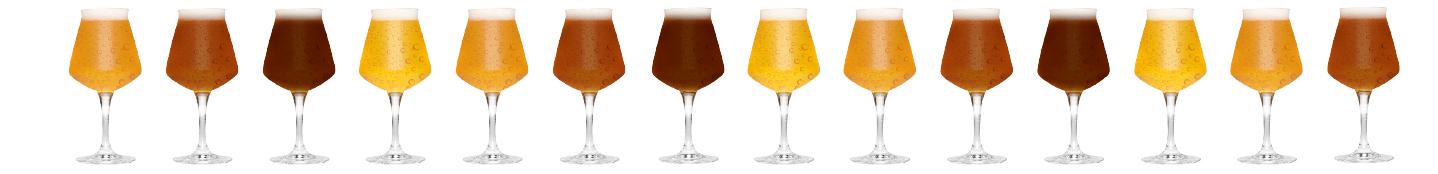 Biere beim Bierfestival