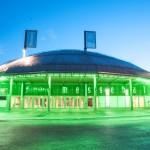 Eingangsbereich Freistädter Messehalle